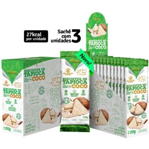 Biscoito Vegano de Tapioca e Coco 15 g – Fhom