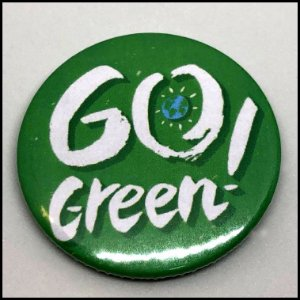 Broche / PIN / Boton Vegano - Go Green