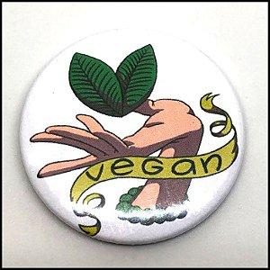 Broche / PIN / Boton Vegano - Vegan Gaia Hand