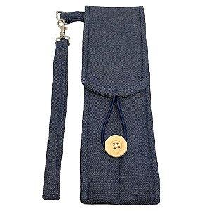 Porta Canudo Ecológico Jeans (Sem Canudo)