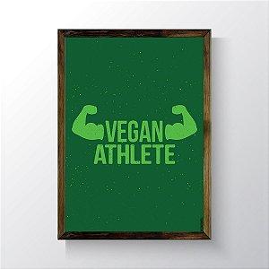 Quadro Vegano Moldura Natural - Atleta Vegano