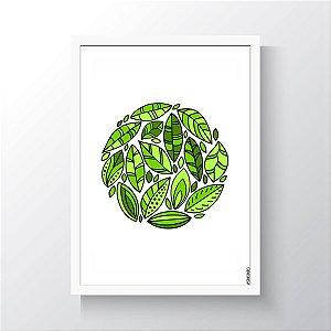 Quadro Vegano Moldura Branca - Plants