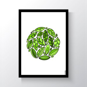 Quadro Vegano Moldura Preta - Plants