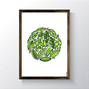 Quadro Vegano Moldura Natural - Plants