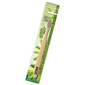 Escova Dental de Bambu Cerdas Carvão – Orgânico Natural
