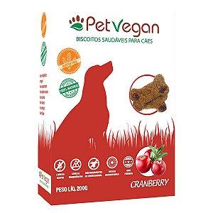 Biscoito Natural Cães PetVegan - Cranberry (Gluten Free)