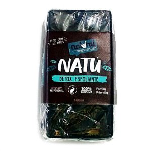 Sabonete Esfoliante Argila Preta e Carvão Ativado - Natural Messenger