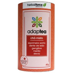 Chá Adaptea Digestivo com Infusor de Aço Inox - Herbal Force