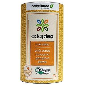 Chá Orgânico Adaptea Anti-Inflamatório com Infusor de Aço Inox - Herbal Force