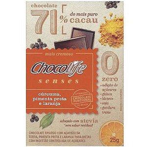 Chocolate Senses Cúrcuma, Pimenta e Laranja 25 g - Chocolife