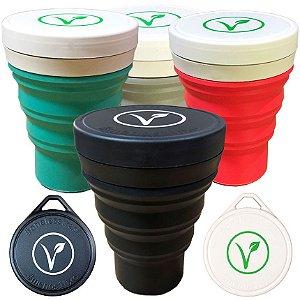 KIT Copo Ecológico Menos 1 Lixo Colors - Vegan