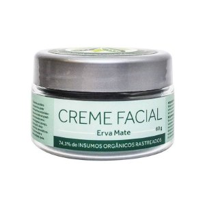 Creme Facial Erva Mate Orgânico - Cativa Natureza