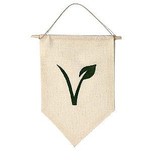 Flâmula Decorativa Símbolo Veganismo - Veganizadores