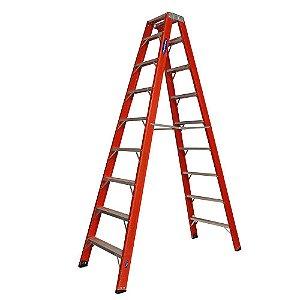 Escada Tesoura - Duplo Acesso em Fibra de Vidro