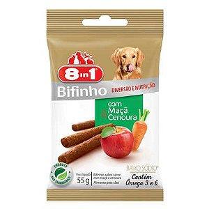 Petisco Premium cães Bifinho Carne Maça eCenoura 55g - 8in1