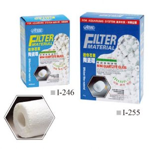 Midia biológica Mini Tubos Ista Mini Quartzite Glass 1 litro