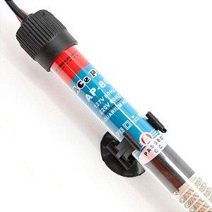 Termostato de vidro para aquecimento de aquários de água doce e salgada de até 45 litros Ace Pet 50W - 127V
