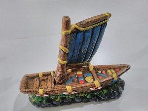 Enfeite para aquários - Barco Pirata decorado tamanho pequeno