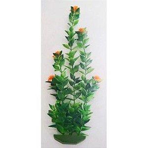 Planta plástica para ornamentação de aquários Bacopa c/flor grande - Mr Pet - 6134