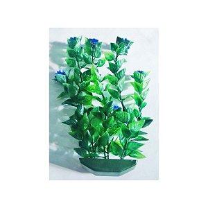 Planta plástica para ornamentação de aquários Bacopa c/flor média - Mr Pet - 6133