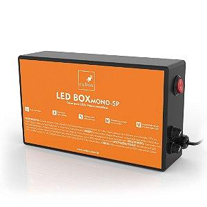 Caixa controladora com controle remoto para até 5 Spot's Cubos Monocromático - Bivolt