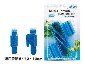 Presilha para fixação de mangueiras em aquários - Evita movimentação e dobra - 2 peças