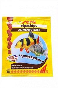 Alimento base em Chips para peixes ornamentais de fundo Sera Vipa Chips de 15g