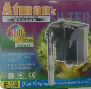 Filtro externo (Hang-on) para aquários Atman HF-0300 300l/h - 127V