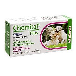 Vermifugo para Cães Chemital Plus - 4 comprimidos