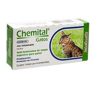 Vermifugo para gatos Chemital - 4 comprimidos
