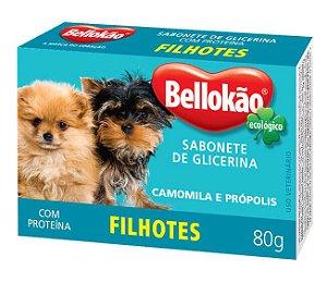 Sabonete Glicerinado para cães filhotes Bellokao com camomilla e própolis - 80g