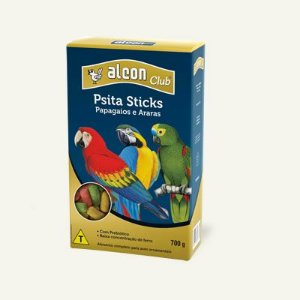 Alimento completo para papagaios e araras Alcon Club Psita Sticks 700g