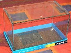 Aquário de vidro curvo com tampa Aqua One Mirage 50 (50x30x31CM)