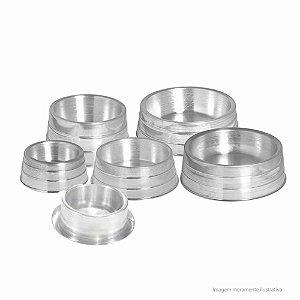 Comedouro e bebedouro pesado em aluminio tamanho grande nº4 - 22cm de diametro