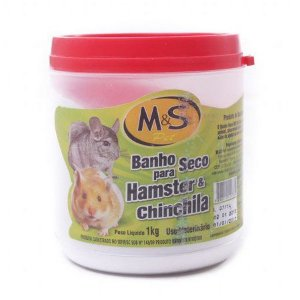 Pó para banho seco de Hamster e Chinchila - 1kg - MS Pet
