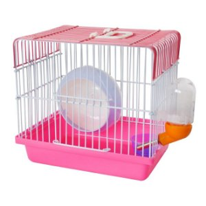 Gaiola completa para Hamster Mini House - Christino Pet - Rosa