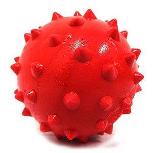 Bola de borracha maciça Cravo 70mm - Super Toy - Furacão Pet