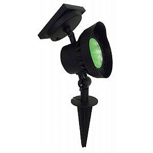 Luminária Solar Spot SuperLED Luz Verde