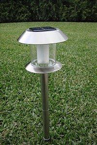 Balizador Solar Estaca Inox com 3LED's 54cm