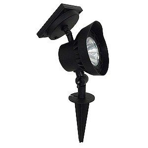 Spot solar com 3 LED's tipo espeto c/ refletor direcional