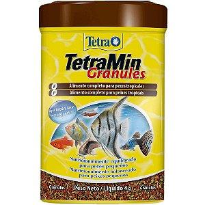 Alimento grãos para peixes tropicais Tetramin Granules 4g