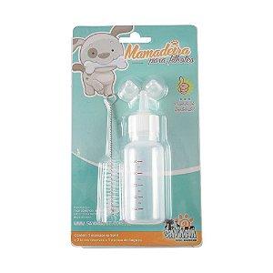 Mamadeira 50ml para filhotes Savana Pet, Conjunto com 3 bicos e limpador