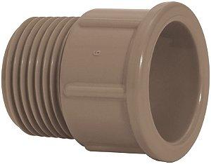 "Luva LR (Cola e rosca) de PVC  Marrom 50mm x 1.1/2"" - Amanco"