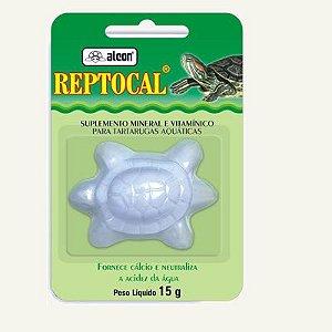 Complemento mineral e vitaminico para tartarugas aquáticas Alcon Reptocal 15g