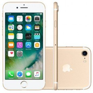 iPhone 7 32GB Dourado Tela Retina HD 4,7  Touch Câmera de 12MP - Apple