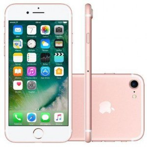 iPhone 7 32GB Ouro Rosa  Tela Retina HD 4,7  Touch Câmera de 12MP - Apple