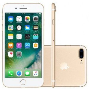 "iPhone 7 Plus 32GB DOURADO Tela Retina HD 5,5"" 3D Touch Câmera Dupla de 12MP"