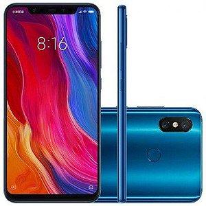 Smartphone Xiaomi MI 8 128GB Versão Global Desbloqueado Azul
