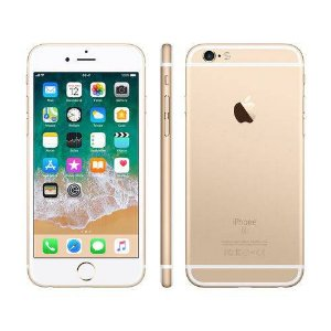 "iPhone 6s Apple 64GB Dourado 4G - Tela 4.7"" Retina Câmera 5MP iOS 11 Proc. A9 Wi-Fi"