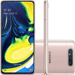 "Samsung Galaxy A80 128GB 8GB Dual Chip Android 9.0 Tela 6,7"" Octa-Core 4G Câmera 48MP + 5MP - Rose"